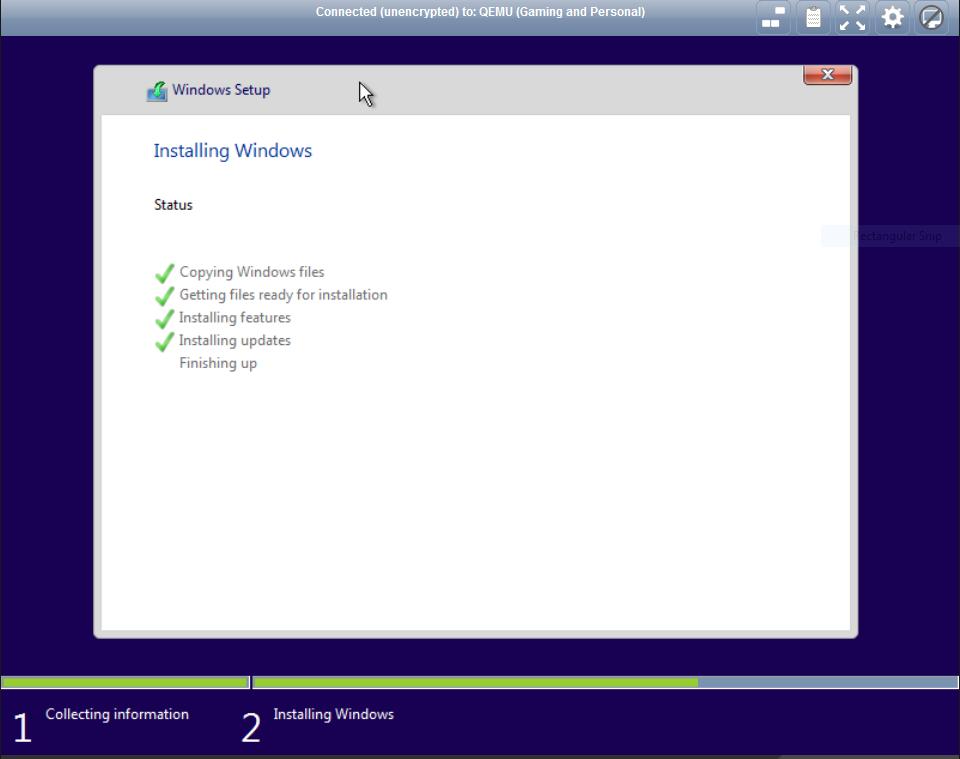 Windows 10 Installation Hangs at