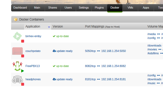 Docker , asterisk and freepbx - Docker Containers - Unraid
