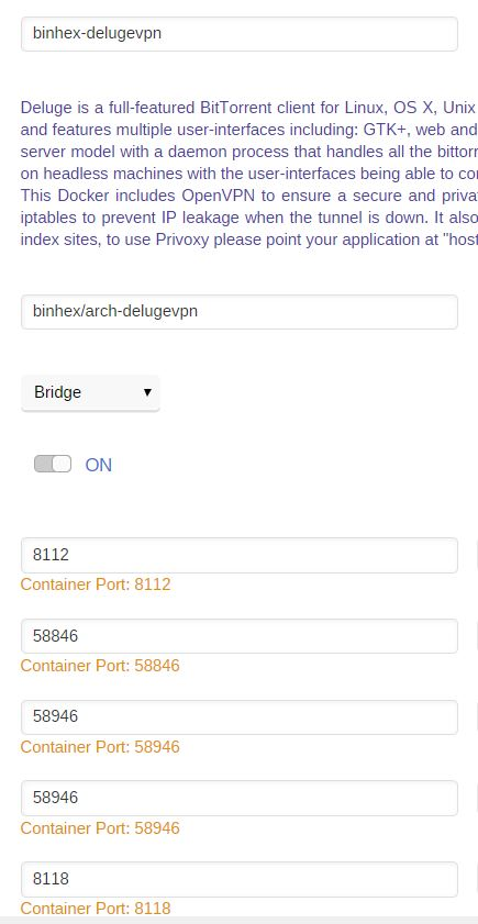 Support] binhex - DelugeVPN - Page 123 - Docker Containers
