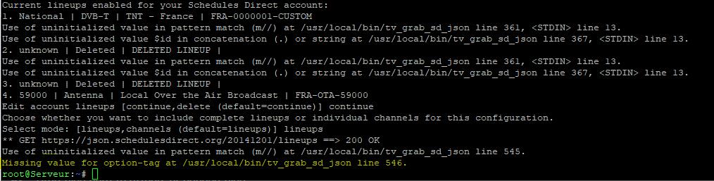 Support] Huxy - XMLTV Schedules Direct - Docker Containers