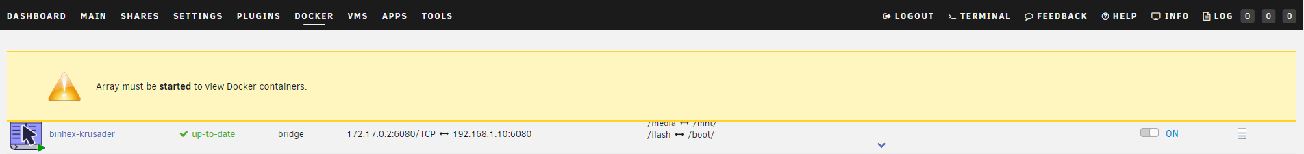 Docker page alert UI - 6 6 3 - Stable Releases - Unraid