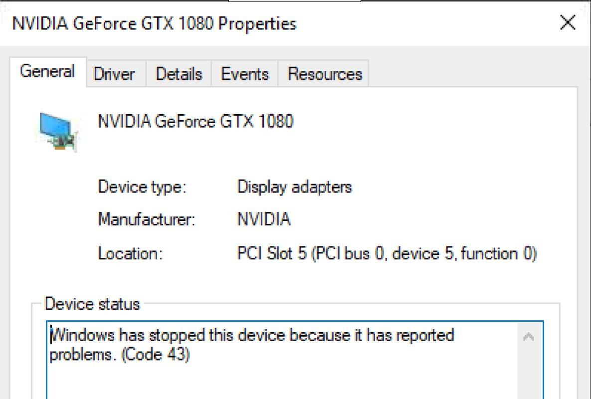 Solved Error 43 Nvidia Geforce 1080 Founders Edition Vm Engine